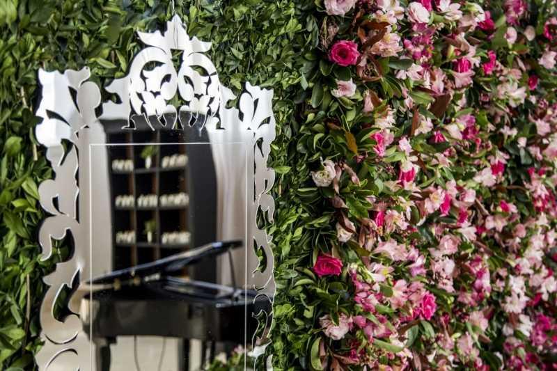 Espelho Veneziano para Muro Ingles , Decoração de casamentos , Passadeira espelhada , Decoração de mesa de bolo para festas e eventos , Espelho Decorativo